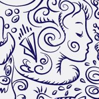 Рисунок для чехла кистью вектор
