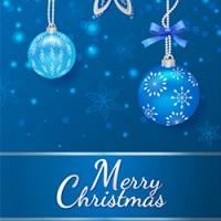 Новогодний шаблон открытки Merry Christmas 100% вектор