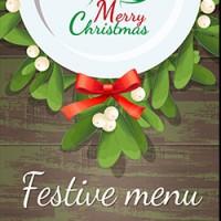 Новогодний шаблон меню для ресторана 100% вектор