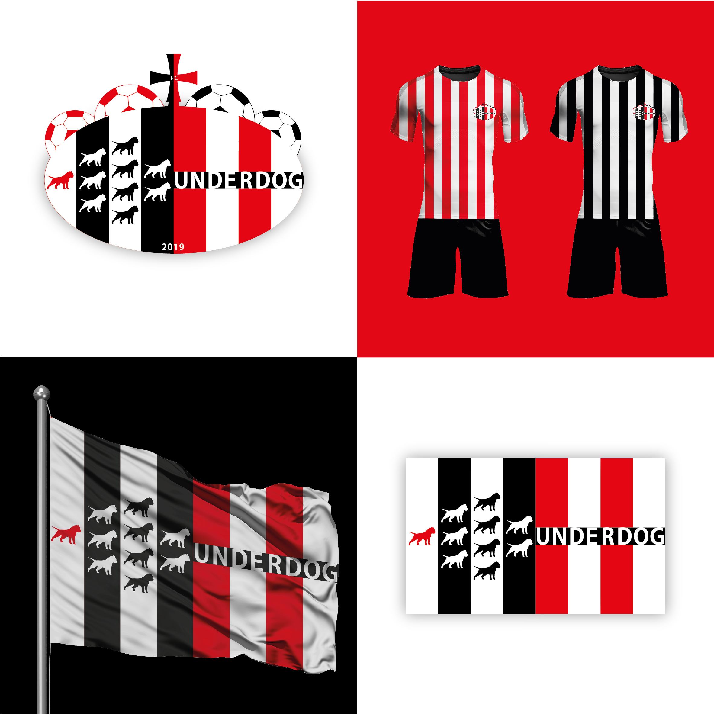 Футбольный клуб UNDERDOG - разработать фирстиль и бренд-бук фото f_8195cb0b4e78d97d.jpg