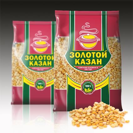 """Упаковка яичных макарон """"Золотой казан"""""""