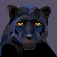 пантера в стиле полигон