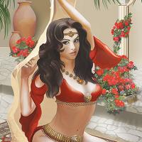 Танцовщица в восточном стиле