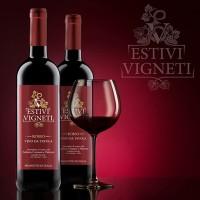 """Дизайн этикетки и разработка логотипа для итальянского вина """"ESTIVI VIGNETI"""""""