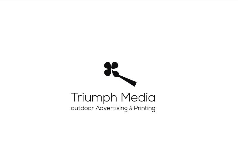Разработка логотипа  TRIUMPH MEDIA с изображением клевера фото f_5075951dc4ea6.jpg