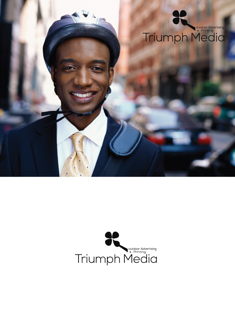 Разработка логотипа  TRIUMPH MEDIA с изображением клевера фото f_5075e53095cb6.jpg