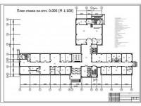 Чертежи здания, план этажа.