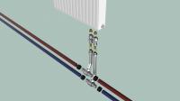 Радиатор с подводкой