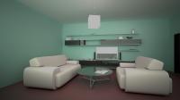 Визуализация планировки гостинной