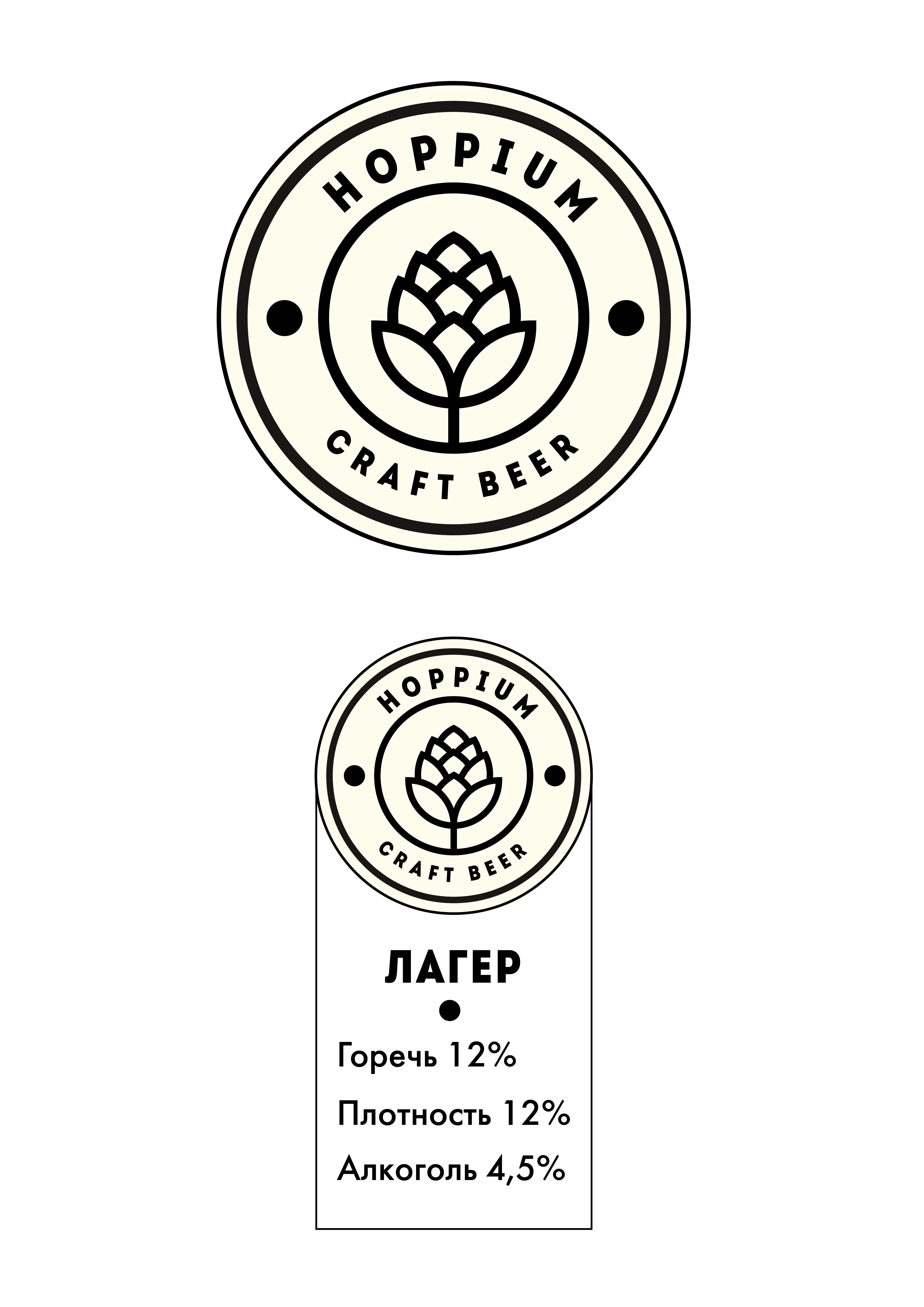 Логотип + Ценники для подмосковной крафтовой пивоварни фото f_5445dbf0175af33f.jpg