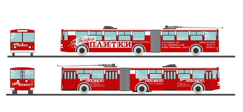 Троллейбус Галерея Плитки 1