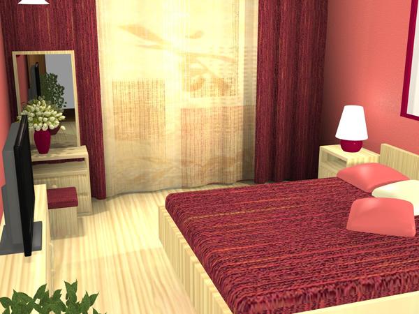 Спальня. Решение в розовом