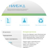 Дизайн сайта «НИИБЖД»