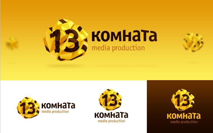"""Вариант логотипа """"13 комната"""""""
