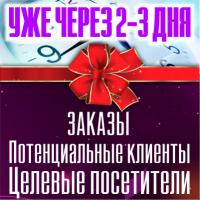 УЖЕ ЧЕРЕЗ 2-3 дня: ЗАКАЗЫ! ПОТЕНЦИАЛЬНЫЕ КЛИЕНТЫ! ЦЕЛЕВЫЕ ПОСЕТИТЕЛИ!
