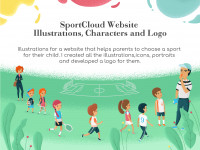 SportCloud. Illustrations. Icons. Logo