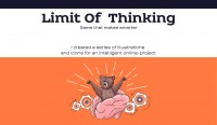 Limit of Thinking. Illustrations and icons.