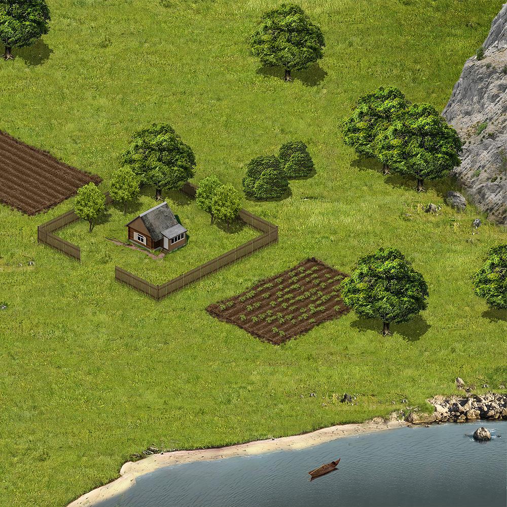 Изометрическая локация для игры