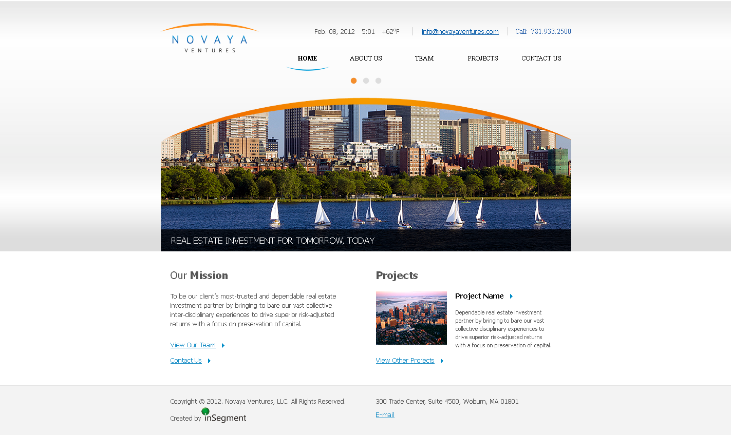Novaya Ventures CMS WordPress