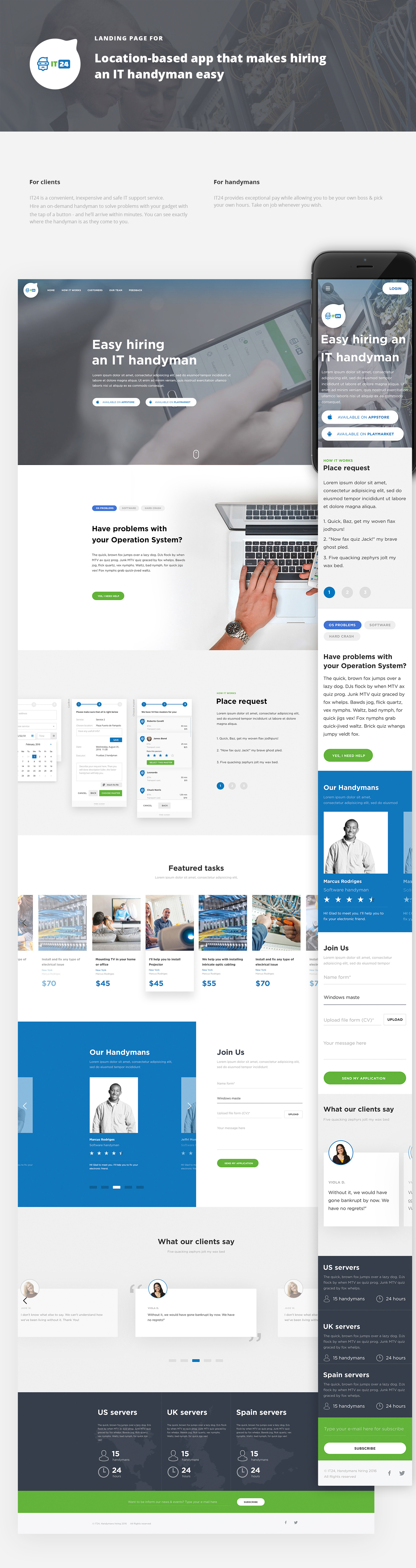 Landing page for IT-support company