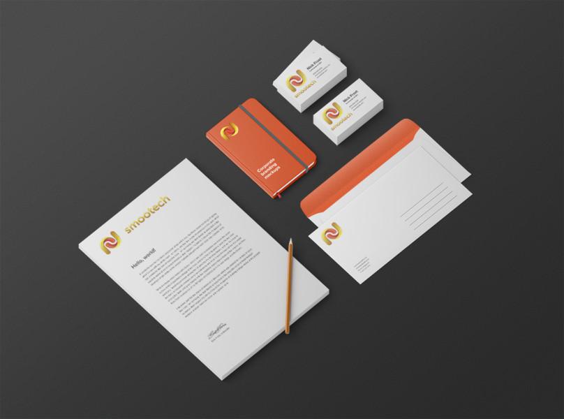 Дизайн логотипа и фирменный стиль для Smootech