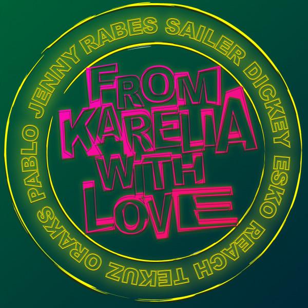 """Дизайн стикера """"From Karelia With Love"""""""