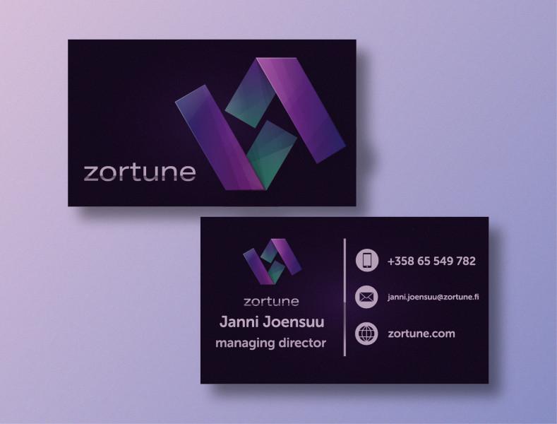Дизайн визиток для компании Zortune