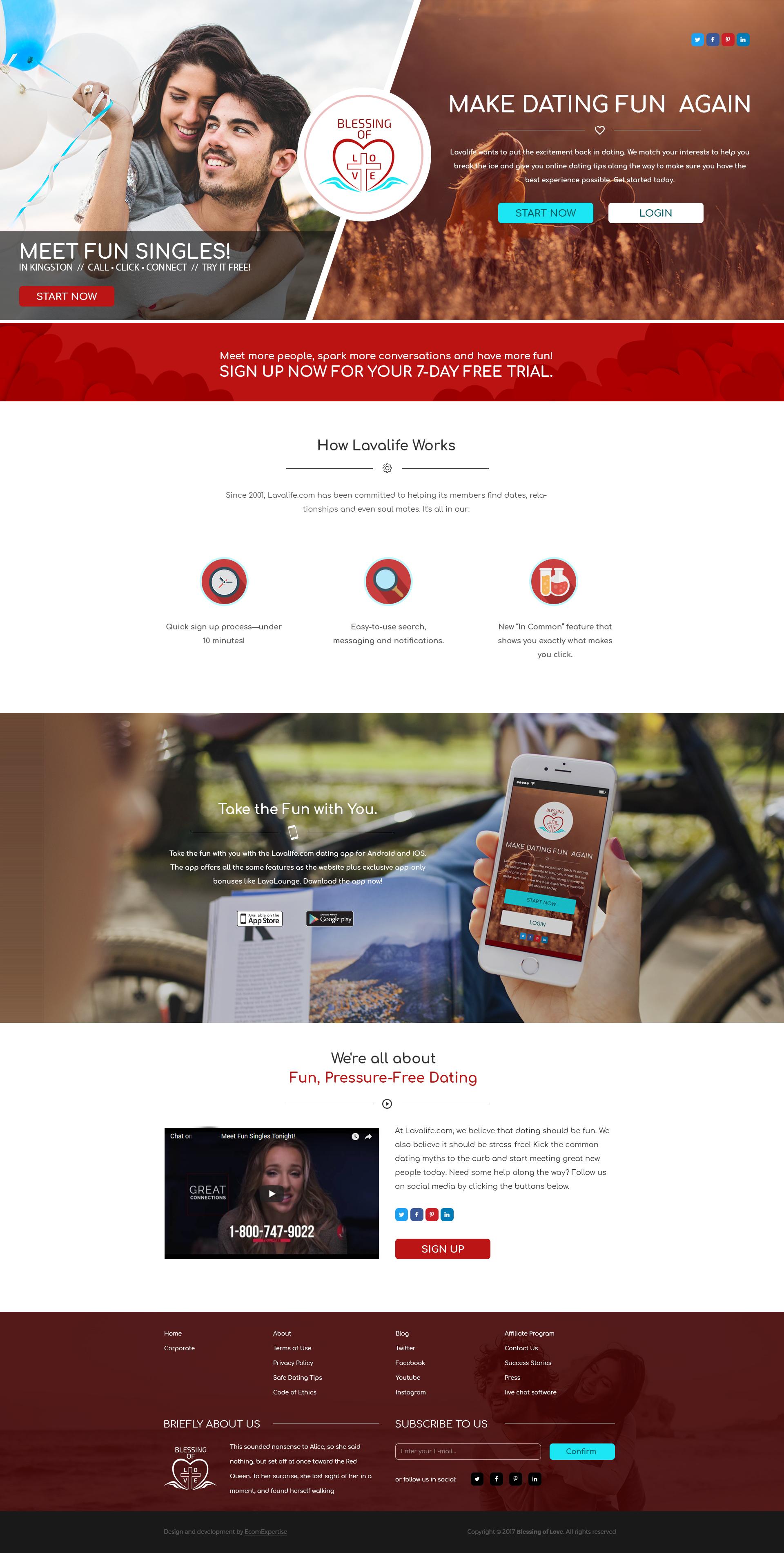 Дизайн Главной страницы сайта Blessing