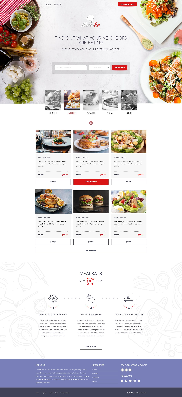 Дизайн Главной страницы сайта Melka