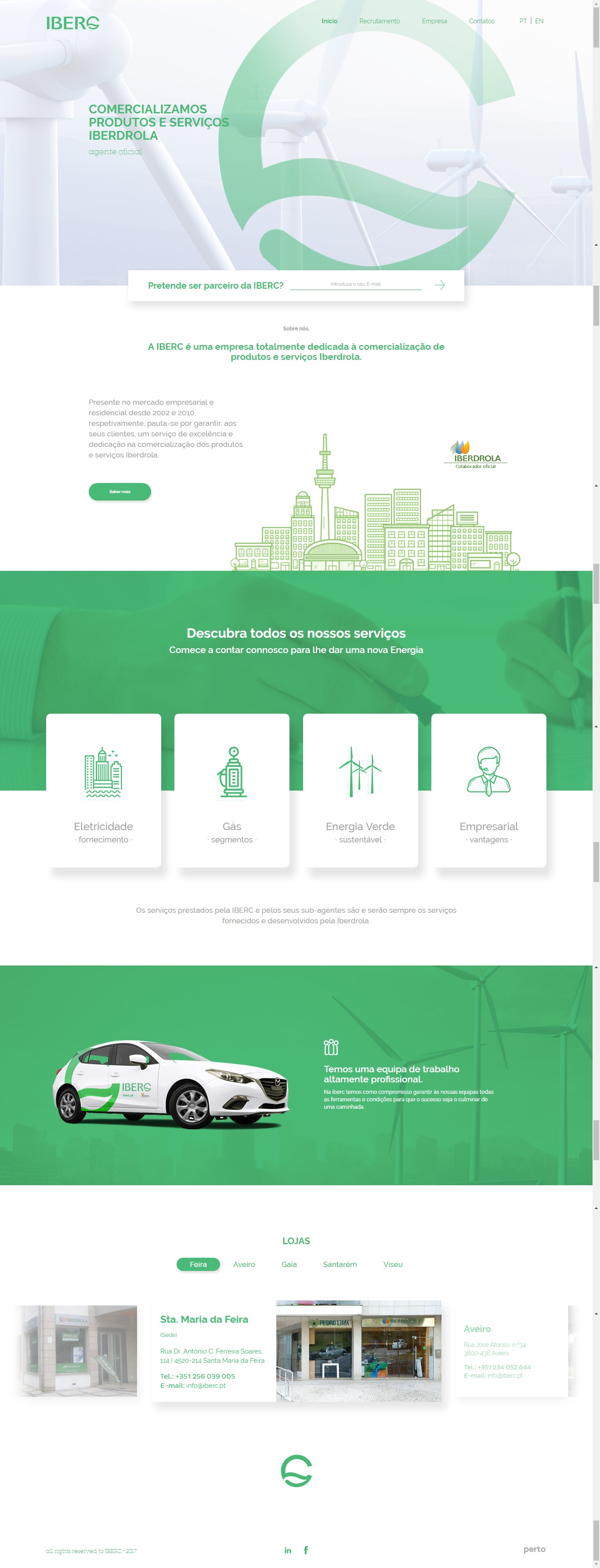 HTML CSS PHP Информационный сайт маркетингового агентства (Португалия)