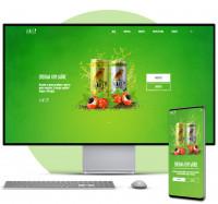 HTML CSS JQuery Рекламный одностраничник LandingPage
