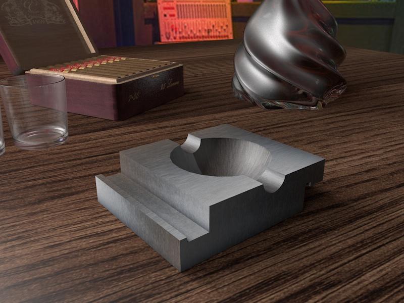Дизайн пепельницы для сигар (не сигарет) фото f_009583f233f23cd8.jpg