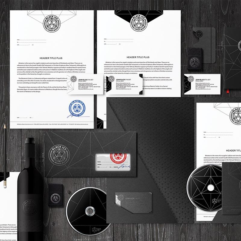"""Логотип + Фирменный стиль для компании """"BLACK ICE"""" фото f_98256f25656aa091.jpg"""