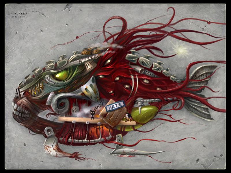 Angry Mechanical Fish
