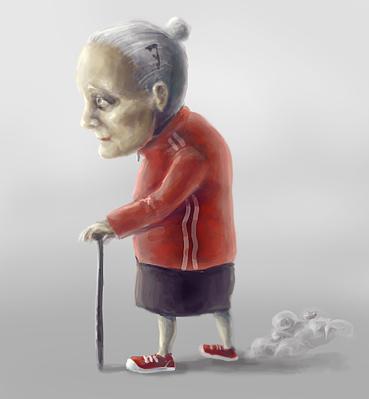 персонаж Бабка скоростная