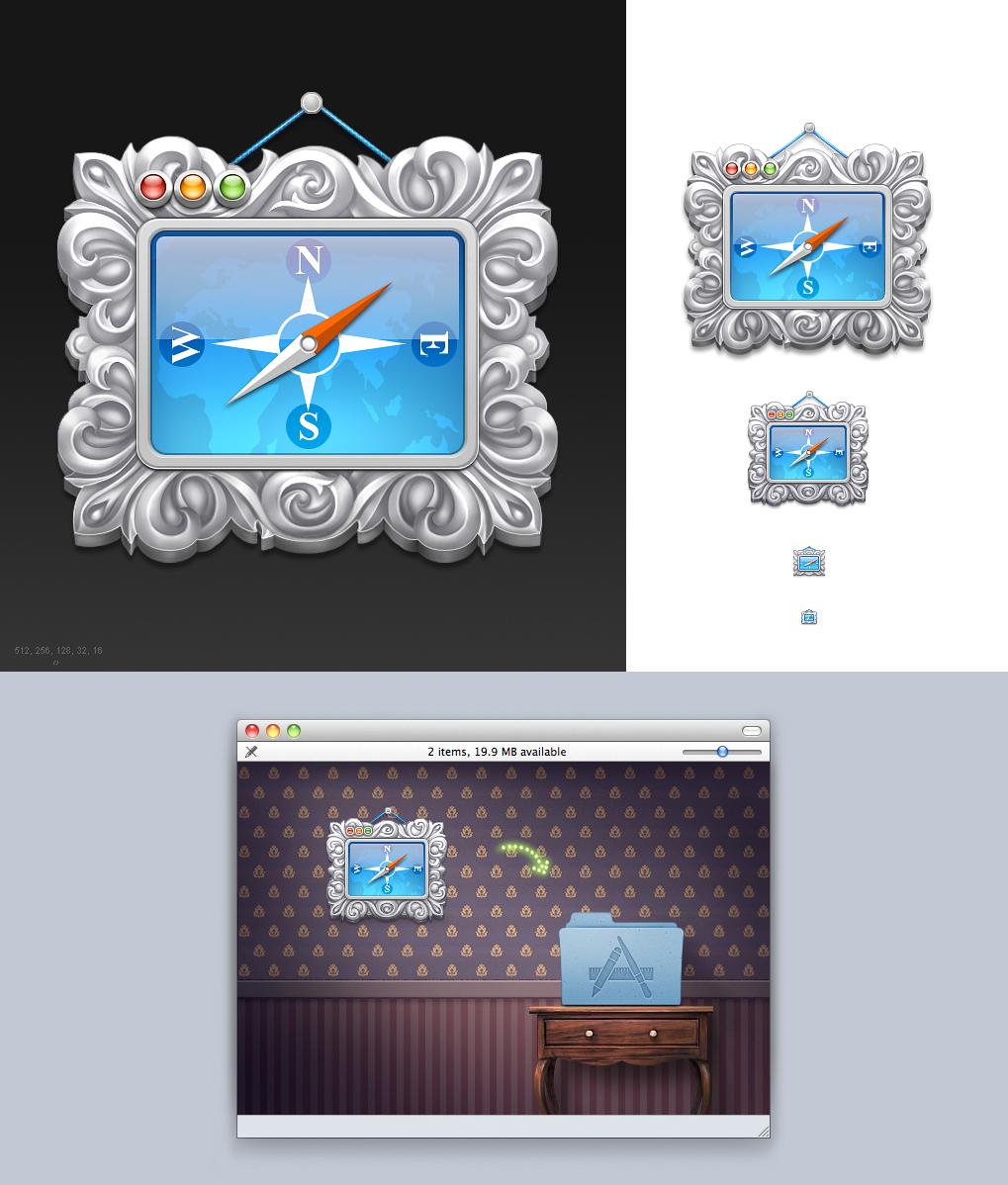 иконка приложения Apple Mac OS 512-16px