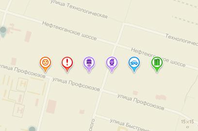 Иконки для карты 16х16
