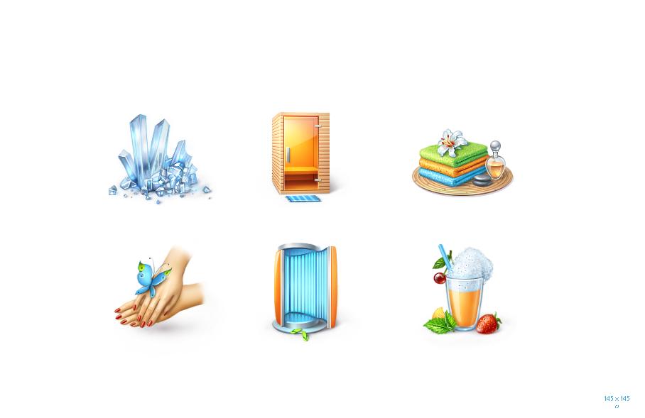 Иконки для оздоровительного центра 145px