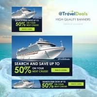 Баннеры Cruise liner Победитель в конкурсе 99design