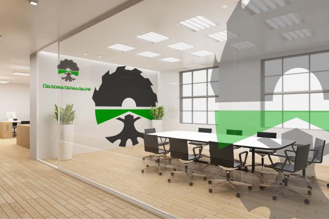 """Создание логотипа и фирменного стиля """"Пиломатериалы.РФ"""" фото f_345530b173eeecac.jpg"""
