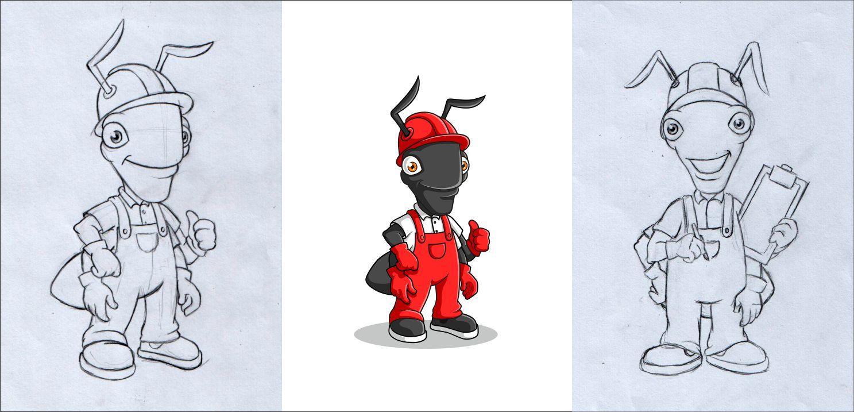 "Необходимо разработать дизайн персонажа ""Муравей"" для сайта  фото f_60057832ac61a35b.jpg"