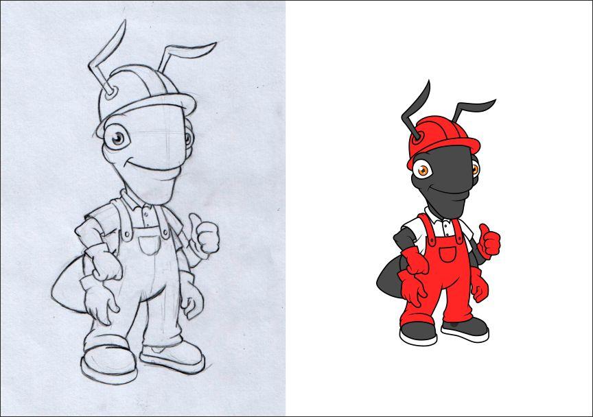 """Необходимо разработать дизайн персонажа """"Муравей"""" для сайта  фото f_750577f8c69d8cf0.jpg"""