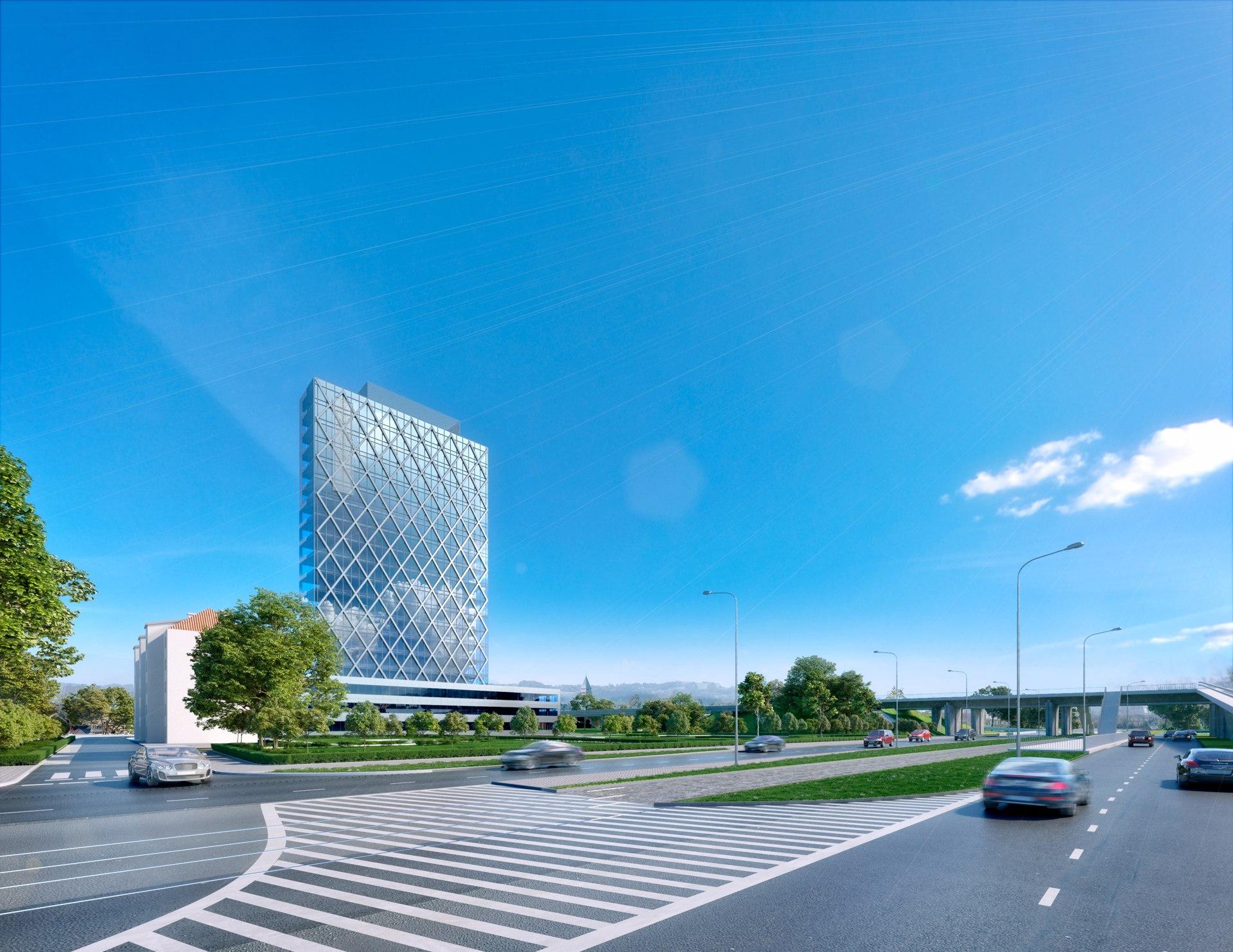 Разработка визуализаций офиса европейского банка