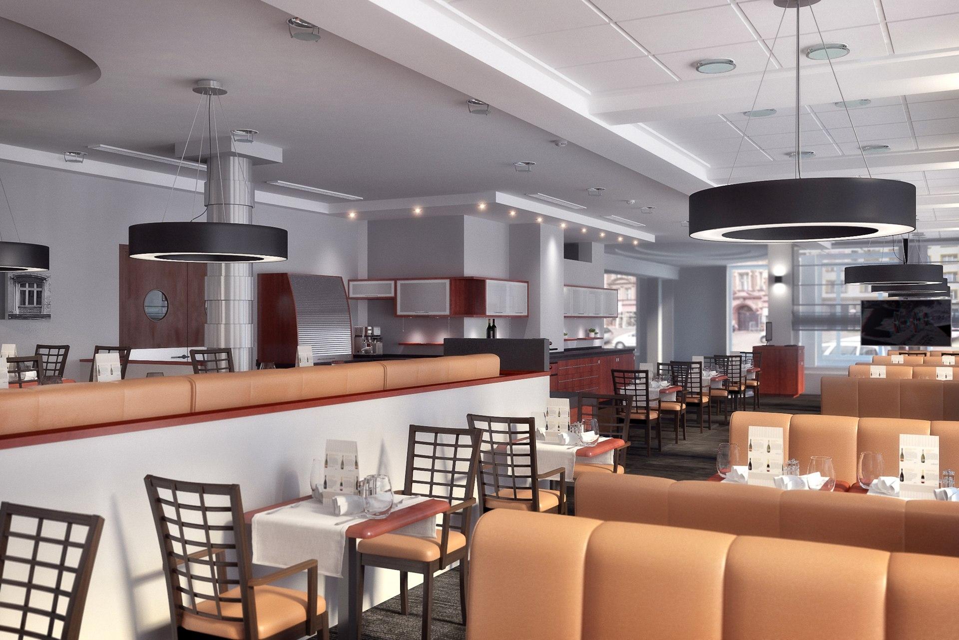 Разработка визуализаций кафе в гостинице Cubus в Польше