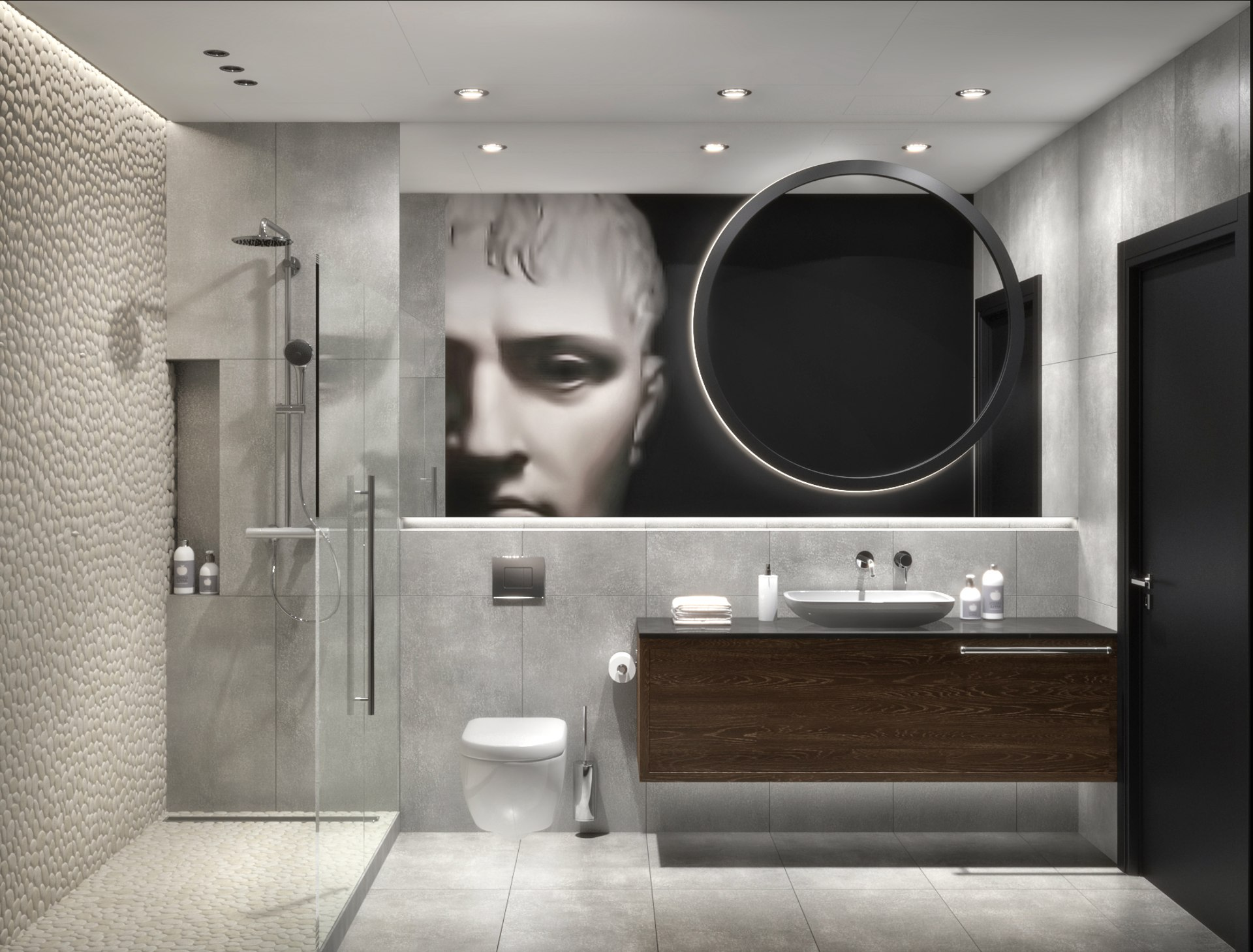 Разработка визуализаций интерьеров ванных комнат