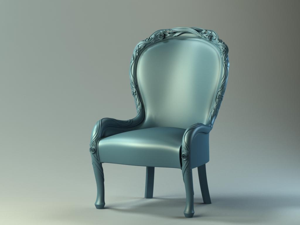 Мебель - Кресло с розочками