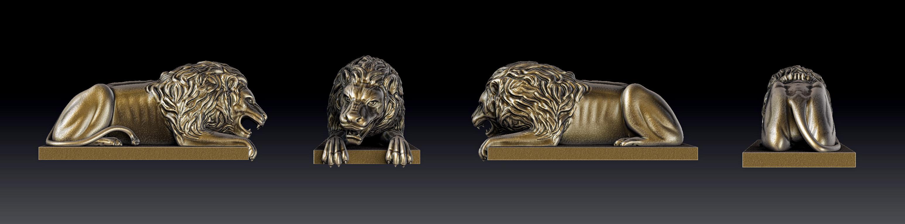 Статуя - Лев