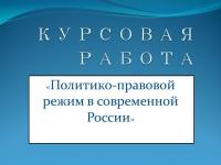 Политико-правовой режим в современной России