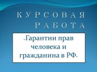 Гарантии прав человека и гражданина в РФ