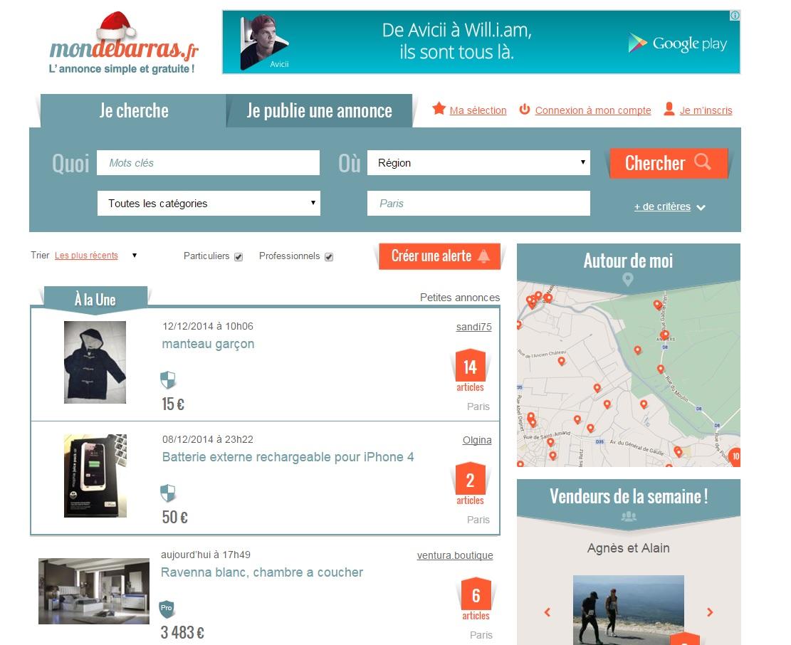 Mondebarras.fr - сайт бесплатных объявлений во Франции
